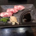 馬肉のにぎり寿司