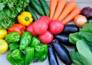 色彩きれいな野菜