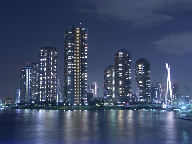 佃島の夜景